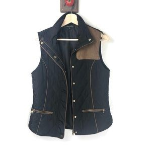 FOR CYNTHIA | Quilted Vest jacket | Black | Sz Sm